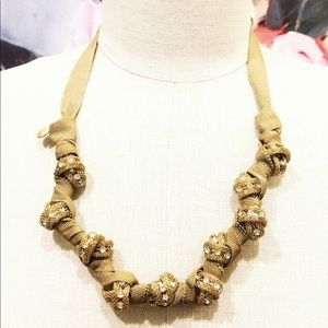 J. CREW ribbon wrapped golden knotted necklace